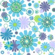 White seamless floral pattern — Stock Vector