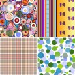 Set Seamless Patterns — Stock Vector