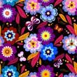 Royalty-Free Stock Vector Image: Seamless floral dark pattern