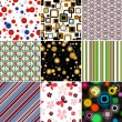Set colorful seamless patterns — Stockvectorbeeld