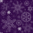 Christmas Seamless violet Pattern — Stockvektor