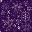 Christmas Seamless violet Pattern - Stock Vector
