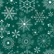 Christmas Seamless green-white Pattern — Stock Vector