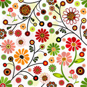 Floral vivid seamless pattern — Stock Vector