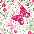 Seamless floral white pattern — Stockvectorbeeld