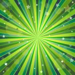 Абстрактный зеленый и желтый фон с лучами — Cтоковый вектор