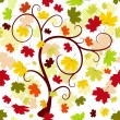 Floral seamless autumn pattern - Stock Vector