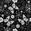 Seamless black-white christmas graphic pattern — Stockvector #3818222