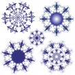 Set violet snowflakes — Stock Vector #3848700
