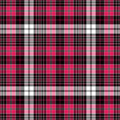 Seamless black-red-white checkered pattern — Stock Vector
