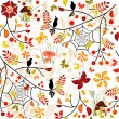 Autumn seamless pattern — Stock Vector #3864012