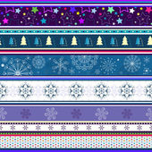 Seamless striped christmas wallpaper — Stock Vector