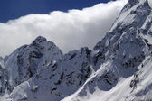 Caucasus Mountains in cloud — Foto de Stock