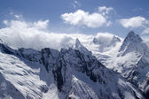 Caucasus Mountains in cloud — Stock Photo