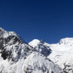 Panorama Caucasus Mountains — Stock Photo