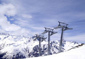 Ropeway at ski resort — Foto Stock