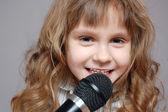 Childhood singing — Stock Photo