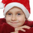 Royalty-Free Stock Photo: Child wearing red Santa