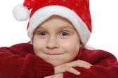 赤サンタを着て子供 — ストック写真