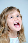Happy shouting girl — Stock Photo