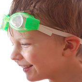 Kid with goggle — Stock Photo