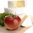 Camembert cheese with parsley — Stock Photo