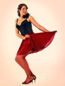 Young attractive girl pinup portrait — Stock Photo