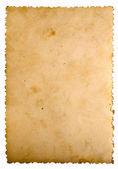 Vintage cardboard over white background — Stock Photo