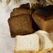 Country still life with fresh bread — Stock Photo