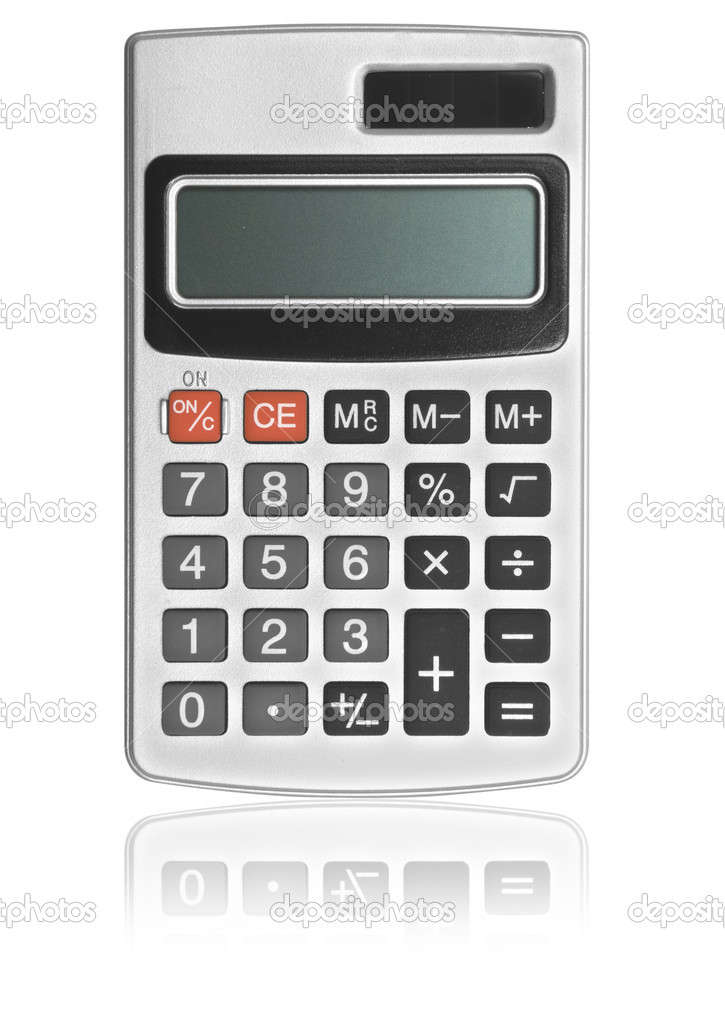 One calculator on the white backgrounds . — Stock Photo #2813782