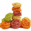 Multicolored pasta — Stock Photo