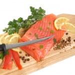Fresh salmon steak — Stock Photo #2742375