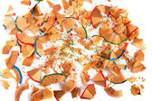 Colored pencils shavings — Stock Photo