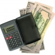 Calculator with dollar — Stock Photo