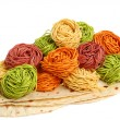Multicolored pasta - Stock Photo