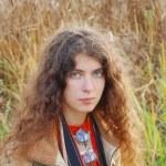 Portrait of hippie girl — Stock Photo