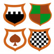 Vector Heraldic Shield Pattern — Stock Photo