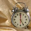Stock Photo: Metallic ld-fashioned alarm-clock