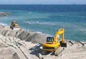 Excavator and bulldozer — Stock Photo
