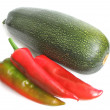 Squash with red pepper — Stock Photo