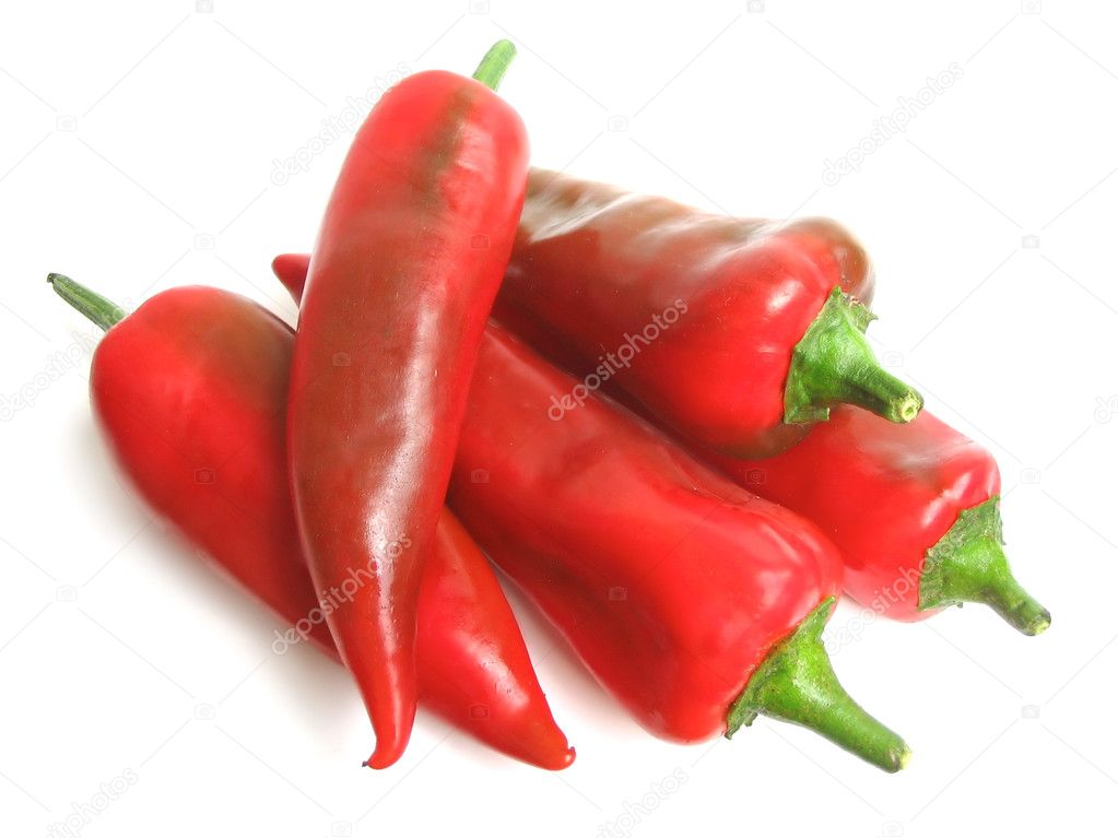 Red pepper on white background  Stock Photo #3225742
