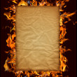 Burning paper — Stock Photo #3402788