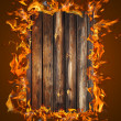 Burning wood texture — Stock Photo
