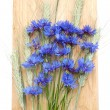 Cornflowers and cereals — Stock Photo