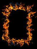 Burning frame — Stock Photo