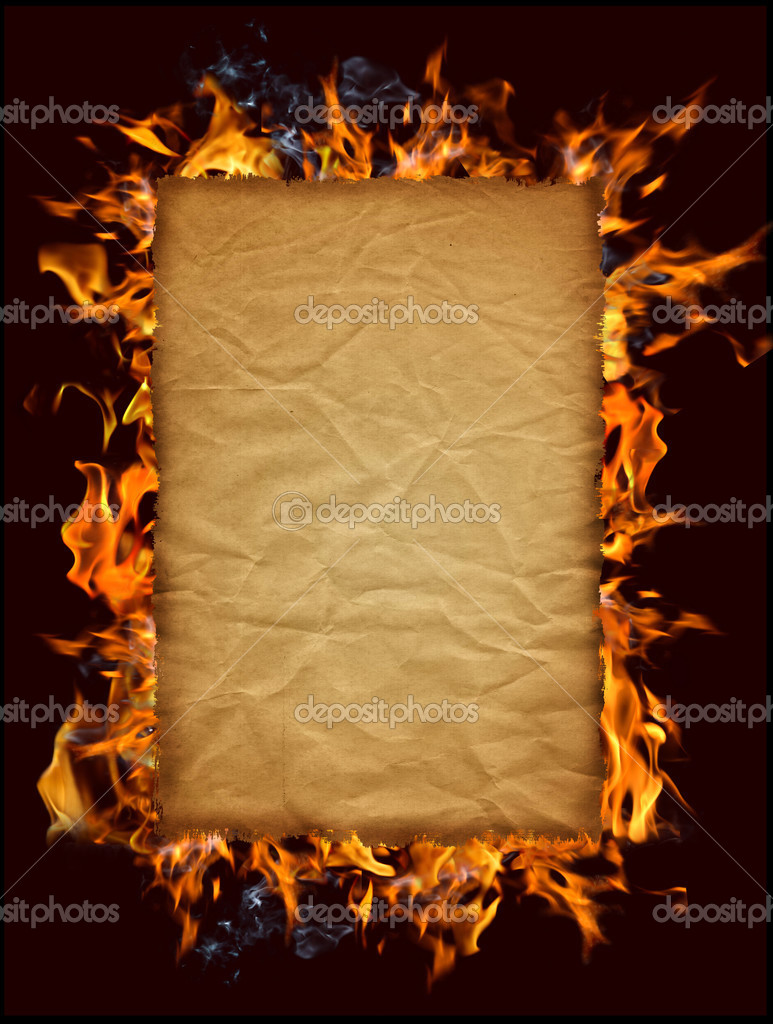 how to make paper look old with fire