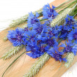 Cornflowers and cereals — Stock Photo #3507305