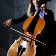 Beautiful cello musician — Stock Photo #3594325