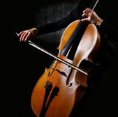Cello musician — Stock Photo