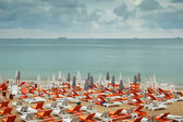 Chairs on the beach — Stock Photo